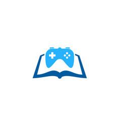 game book logo icon design vector image
