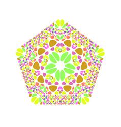 Geometrical colorful ornate flower ornament vector