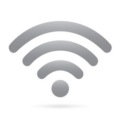 gray wifi icon wireless symbol on isolated vector image