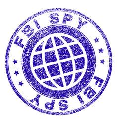Grunge textured fbi spy stamp seal vector