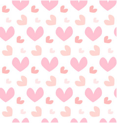 happy valentines day holiday concept pink heart vector image