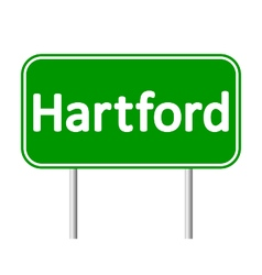 Hartford green road sign vector image