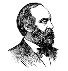 James a garfield vintage vector