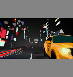 landscape of the night city vector image
