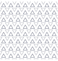 Line triangles seamless pattern vector