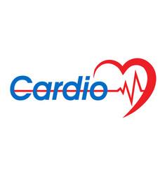 logo for a cardio clinic vector image