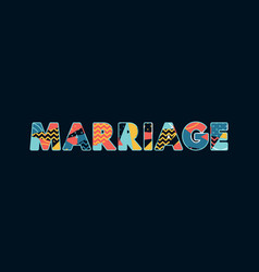 Marriage concept word art vector