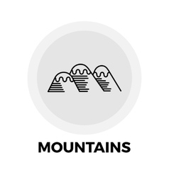 Mountains Line Icon vector image