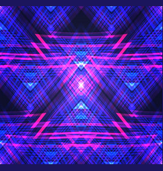 Neon tribal seamless texture pattern with neon vector