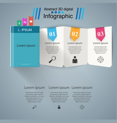 Notepad notebook icon abstract infographic vector