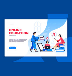 Online education web banner vector