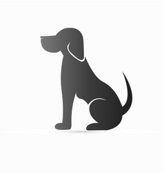 pet dog sitting icon logo vector image