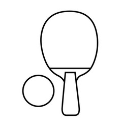 ping pong racket and ball sport icon vector image