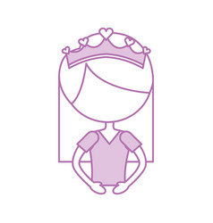 portrait of a cute little ballerina classical vector image