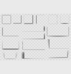 realistic square shadows square drop shadow soft vector image