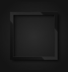 realistic square shiny black frame vector image