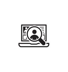 Recruitment icon business concept flat design vector