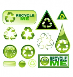 recycling icon set vector image