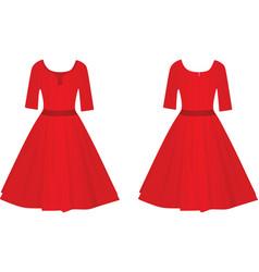 red women elegant dress vector image