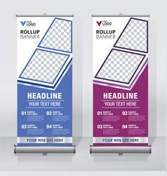 roll up banner pull up banner x-banner modern v vector image