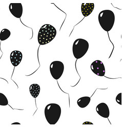 Seamless pattern of black ballons vector