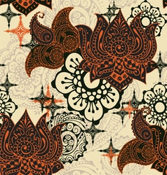 Seamless pattern with Indian ornaments vector image