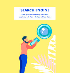 Search engine optimization flyer template vector
