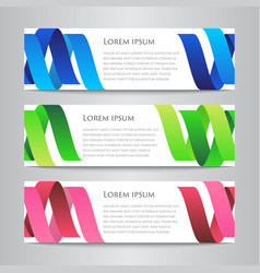 set of design ribbon banner template vector image