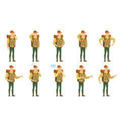 Set of traveler characters vector
