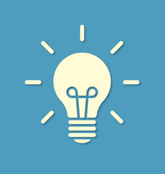 silhouette light bulb on blue background vector image