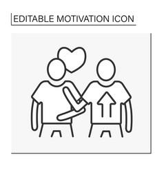 Social motivation line icon vector
