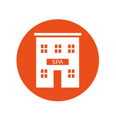 spa building vector image