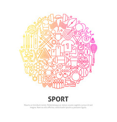 sport circle concept vector image
