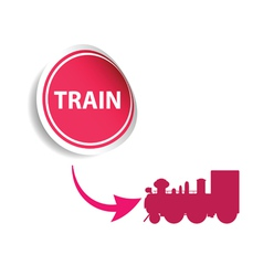 sticker train pink vector image