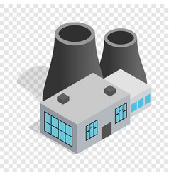 thermal power station isometric icon vector image