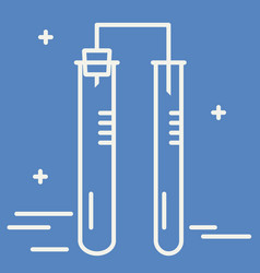 thin line icon of two chemical flask chemical vector image
