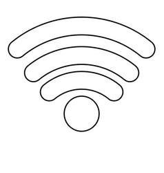 wifi signal icon in monochrome silhouette vector image