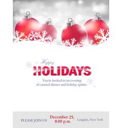 winter holiday invitation vector image