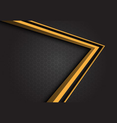 yellow arrow 3d direction on gray hexagon mesh vector image