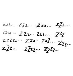 Zzz doodle symbol for sleep cartoon vector