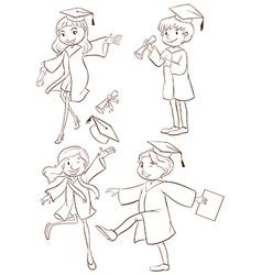 A graduation ceremony vector