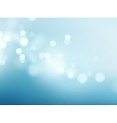 Abstract blue circular bokeh background vector image vector image