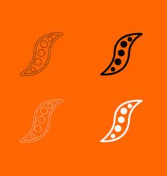 bean icon vector image