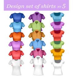 color men and women polo shirt vector image