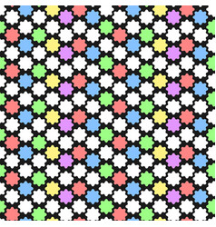 Geometric pattern with abstract ornament in vector