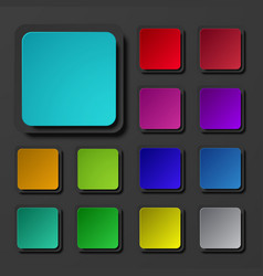 modern colorful square icons set vector image