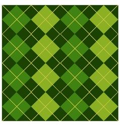 Argyle Green Design vector image vector image