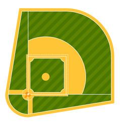cartoon baseball field batting design vector image