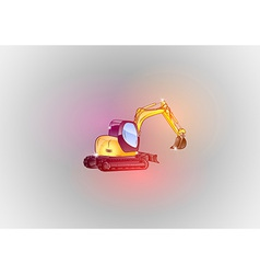 construction abstract excavator glitter vector image vector image