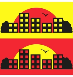 Contrast City Silhouette vector image